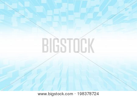 Digital 3D Cubes Box Effect Abstract Background. Blue Box 3D Or Rectangular Prism Abstract Texture A