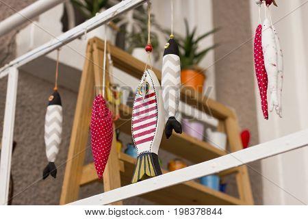 Handmade fish toy from turkish market in Antalya