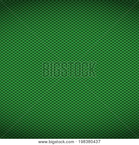Green carbon texture fiber background. Vector illustration