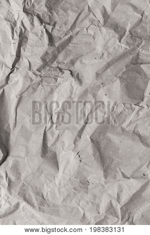 Crumpled paper texture. Recycled paper background. Abstract texture