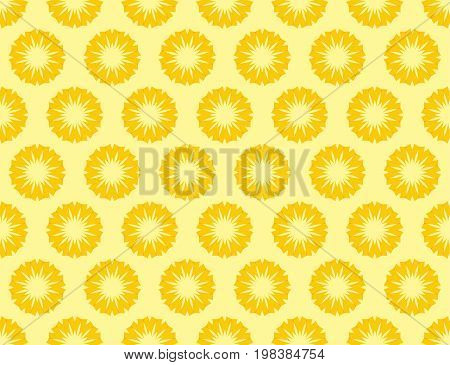 Seamless vector background with abstract sun icons