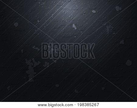 Vector dark polished concrete background. Vintage background