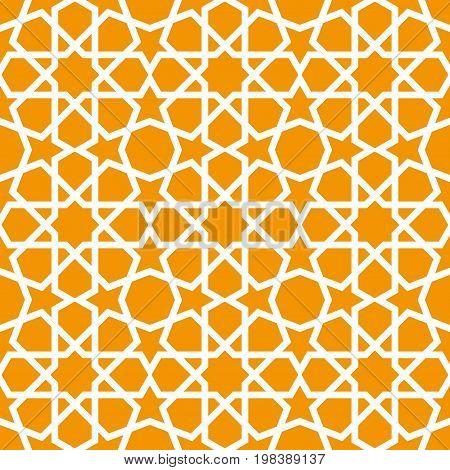 Seamless ornamental pattern in arabic style background - Persian style wallpaper