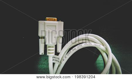 Computers - VGA Cable Connector on Black background