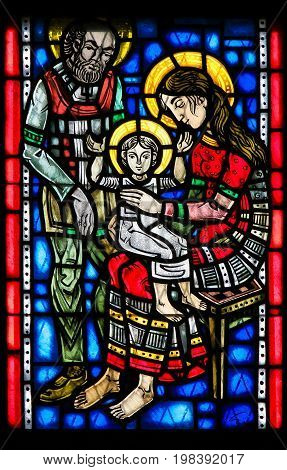 Stained Glass In Worms - Holy Family