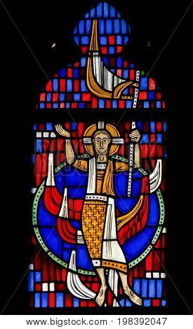 Stained Glass In Worms - Jesus Christ