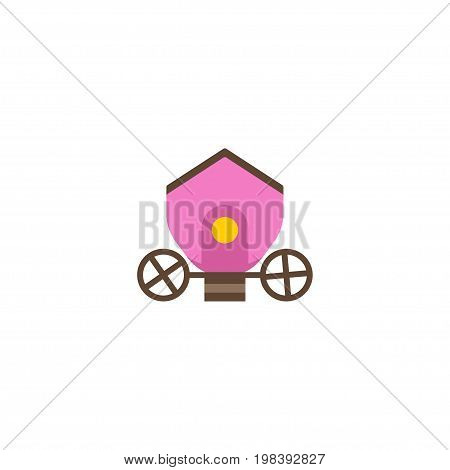 Flat Icon Brougham Element. Vector Illustration Of Flat Icon Chariot Isolated On Clean Background