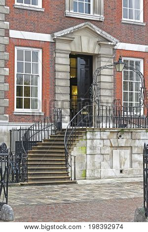 Entrance With Stairway at Victorian House in London