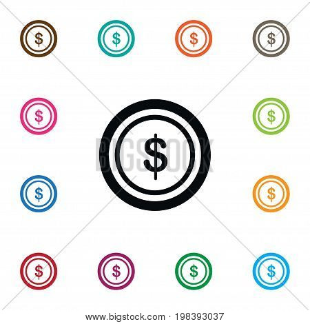 Dollar Vector Element Can Be Used For Chip, Dollar, Casino Design Concept.  Isolated Chip Icon.