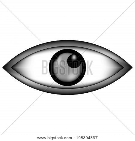Eye sign icon on white background. Vector illustration.
