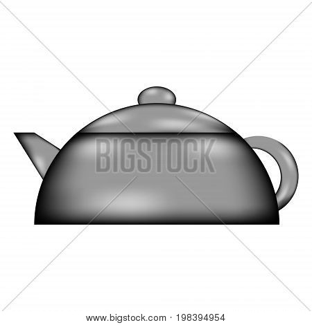 Kettle sign icon on white background. Vector illustration.