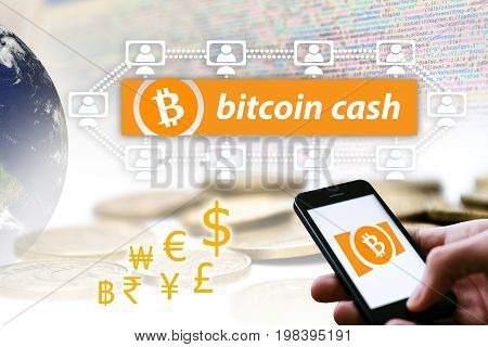 Bitcoin cash or symbol BHC is a cryptocurrency digital money concept