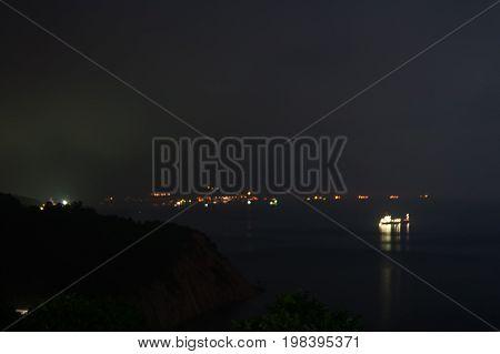 Night russian romantic black sea scape sky horizon