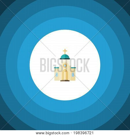 Religious Vector Element Can Be Used For Religious, Architecture, Church Design Concept.  Isolated Architecture Flat Icon.