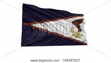Illustration of Western Samoa flag flttering in breeze