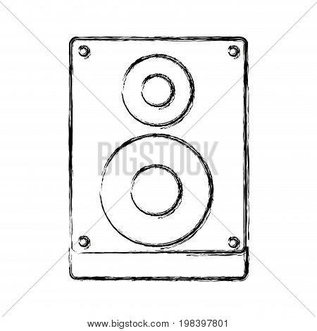 audio speaker subwoofer music system vector illustration