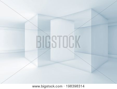 Intersected Geometric Walls, 3D Illustration