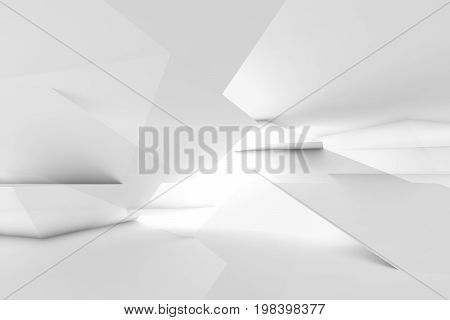 Polygonal 3D Illustration, Double Exposure