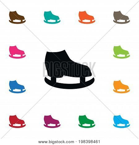 Skates  Vector Element Can Be Used For Skates, Slide, Ice Design Concept.  Isolated Slide Icon.
