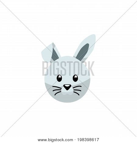 Bunny Vector Element Can Be Used For Rabbit, Bunny, Hare Design Concept.  Isolated Rabbit Flat Icon.