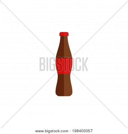 Juice Vector Element Can Be Used For Bottle, Drink, Juice Design Concept.  Isolated Bottle Flat Icon.