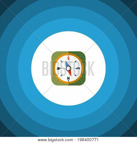 Instrument Vector Element Can Be Used For Orientation, Geography, Compass Design Concept.  Isolated Geography Flat Icon.