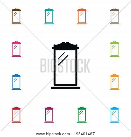 Reflector Vector Element Can Be Used For Reflector, Glass, Mirror Design Concept.  Isolated Glass Icon.