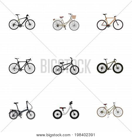 Realistic Extreme Biking, Timbered, For Girl And Other Vector Elements
