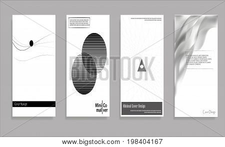 Minimal Vector covers design. Black and white. Future Poster template