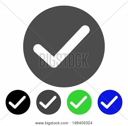 Apply flat vector pictograph. Colored apply, gray, black, blue, green icon variants. Flat icon style for application design.
