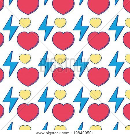 heart love and energy hazard symbol background vector illustration
