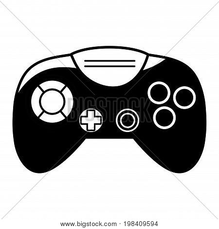 contour videogame controller with buttons to play in the console vector illustration