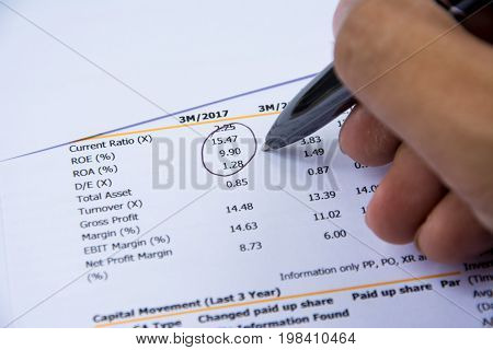 Financial Budget Statement Read And Check The Number For Analysis Invest Stock