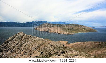 view on the island Prvic, hiking Baska, island Krk, Croatia