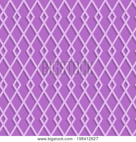 Seamless Rhombuses Pattern On A Lilac Background