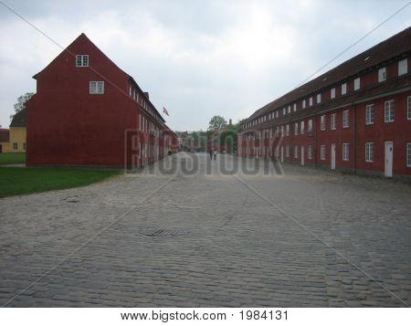 Barracks In Kastellet In Copenhagen