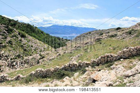 sheep walls, seen while hiking to Veli and Mala Luka, Baska, island Krk, Croatia