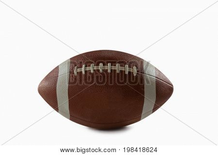Close-up of American Football over white background