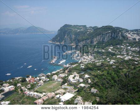 View Of Harbor At Capri