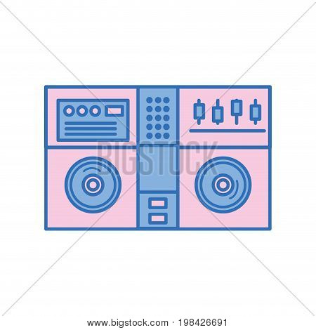 stereo to play and listen to music vector illustration