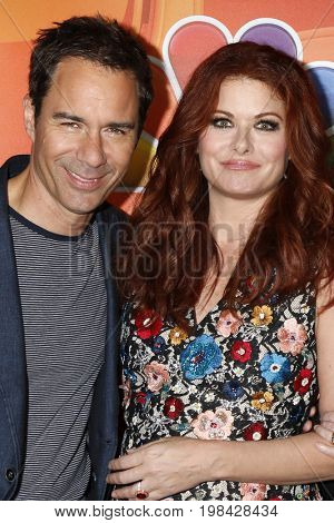 LOS ANGELES - AUG 3:  Eric McCormack, Debra Messing at the NBC TCA Press Day Summer 2017 at the Beverly Hilton Hotel on August 3, 2017 in Beverly Hills, CA