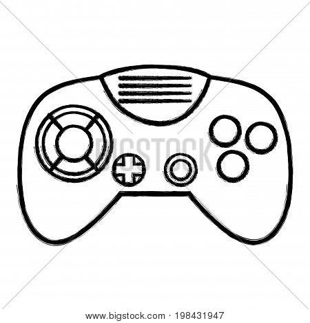 figure videogame controller with buttons to play in the console vector illustration