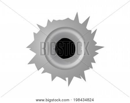 3D Rendering Of Bullet Isolated On White Background