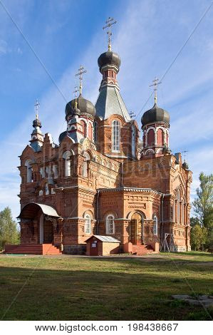 Jartcevo Russia - August 02 2010: The Church of the First Great Apostles Peter and Paul