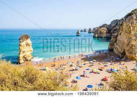 Portugal Algarve beach Praia Dona Ana in Lagos