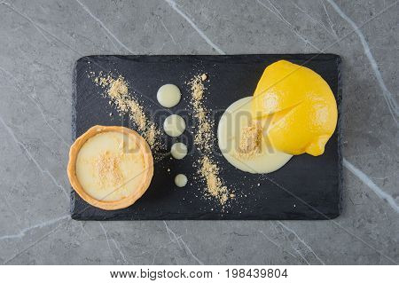 Delicious French Dessert Cooked In Lemon.