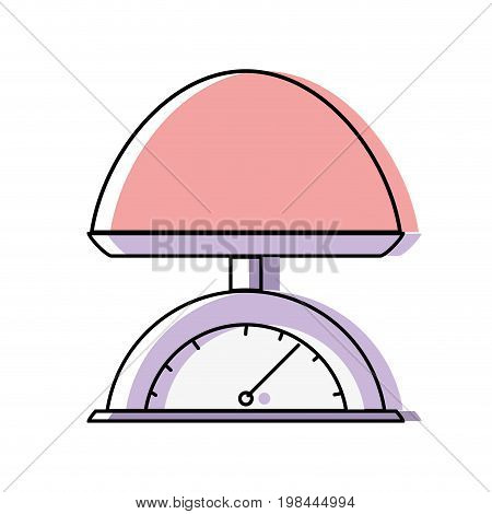 baby weight machine balance tool vector illustration