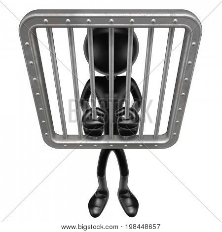 Jailed The Original 3D Character Illustration