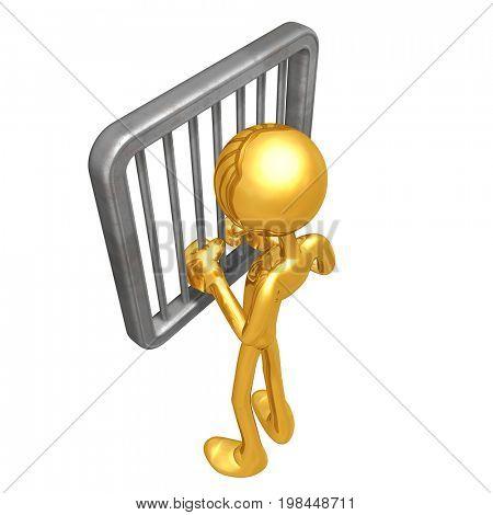 Jailed The Original 3D Character Illustration