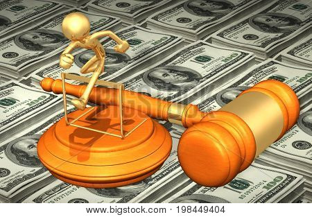 Legal Hurdle Law Concept 3D Illustration